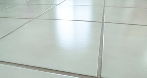 closeup of ceramic tile floor
